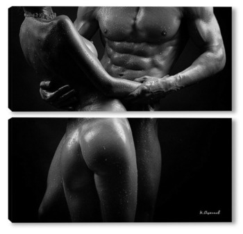 Модульная картина Мужчина и женщина с красивыми телами