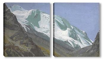 Модульная картина Ледник в Памире