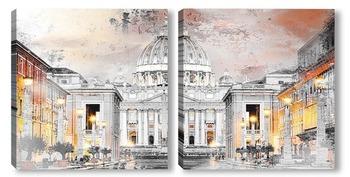 Модульная картина Рим, Ватикан