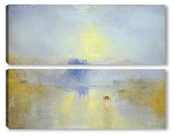 Модульная картина Замок Норем, восход