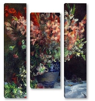 Модульная картина Гладиолусы в вазе