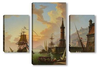 Модульная картина Морской порт