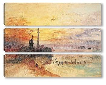 Модульная картина Гавань Ярмут, Норфолк, 1840.