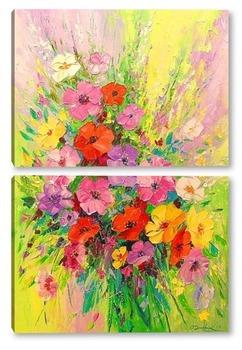 Модульная картина Букет полевых цветов