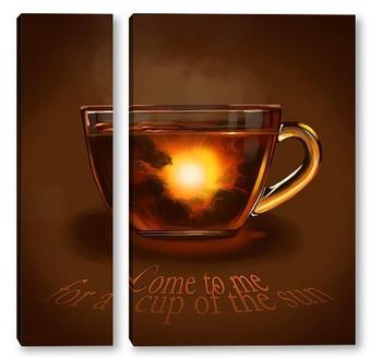Модульная картина Заходи на чашку солнца
