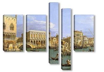 Модульная картина Вид на Рива-дельи, Венеция