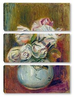 Модульная картина Белые розы