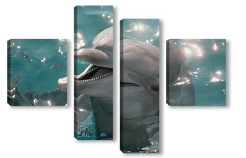 Модульная картина Dolphin115