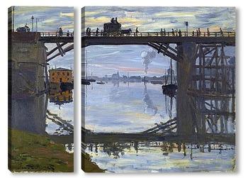 Модульная картина Деревянный мост