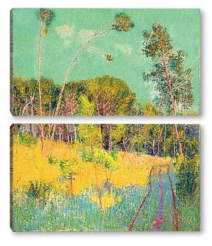Модульная картина Поляна в лесу