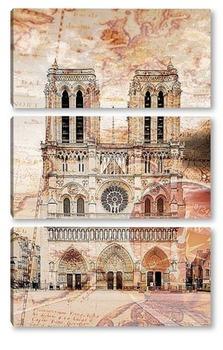 Модульная картина Нотр-дам де Пари