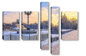 Модульная картина Санкт-Петербург. На Сенатской площади.