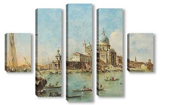 Модульная картина Венеция: Пунта делла Догана, 1770