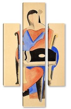 Модульная картина Сидящая женщина