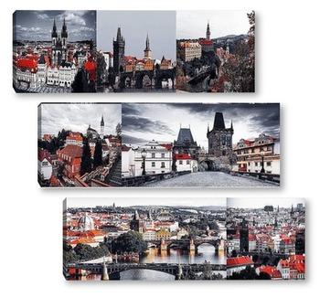 Модульная картина Виды Чехии