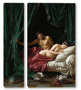 Модульная картина Марс и Венера, аллегория мира