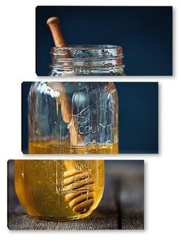 Модульная картина Банка с медом