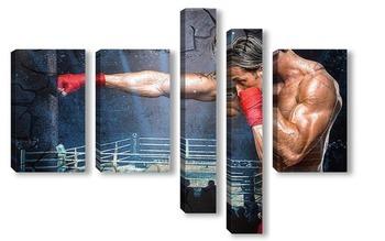 Модульная картина Боксер на ринге