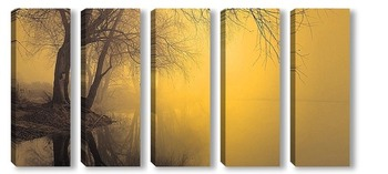 Модульная картина туман 7