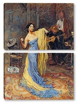 Модульная картина Портрет танцовщицы Анны Павловой