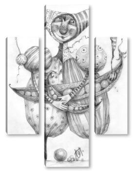 Модульная картина Шут гороховый
