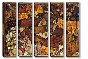 Модульная картина Полумесяц Домов (маленький Город V)