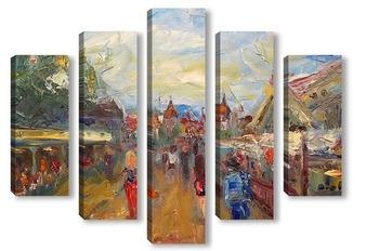 "Модульная картина ""Таллин. У ворот старого города"""