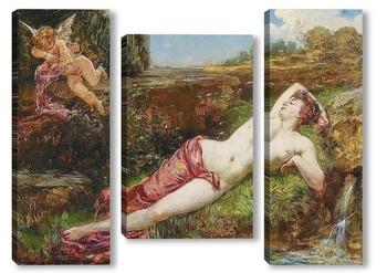 Модульная картина Венера и Купидон