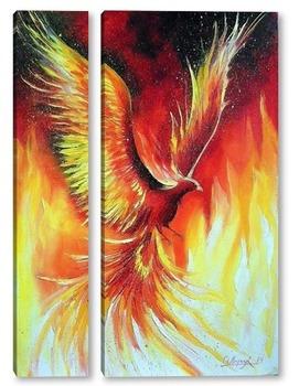 Модульная картина Птица Феникс