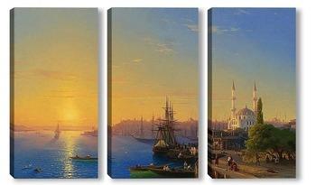 Модульная картина Вид Константинополя и Босфора