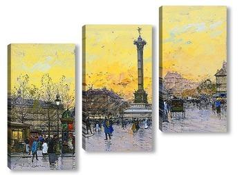 Модульная картина Площадь Бастилии
