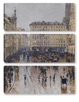 Модульная картина Вид на Мариенплац в Мюнхене