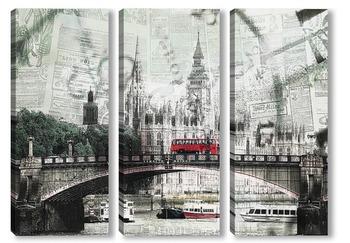Модульная картина Ретро Лондон