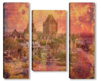 Модульная картина  Замок Фронтенак в Старом городе Квебек