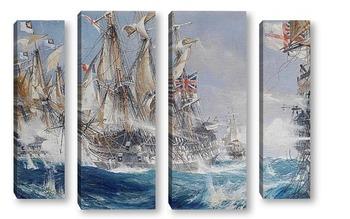 Модульная картина Морское сражение