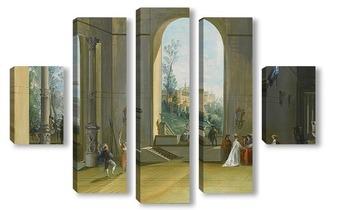 Модульная картина Интерьер замка