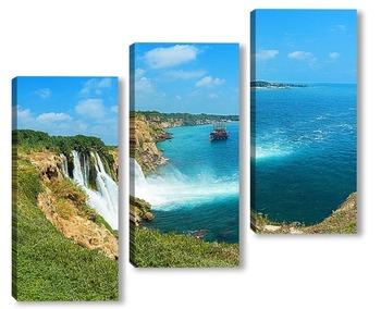 Модульная картина Дюденский водопад