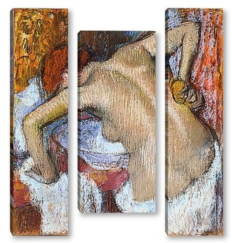 Модульная картина Женщина за туалетом