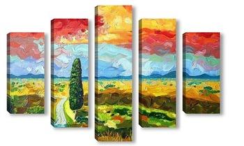 Модульная картина Тосканский полдень