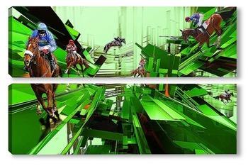 Модульная картина Abstract horse racing