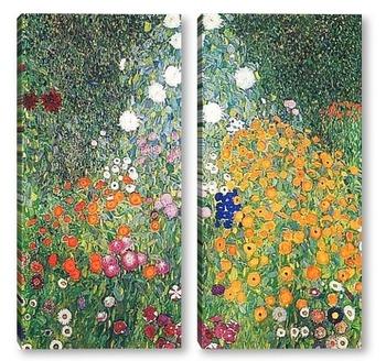 Модульная картина Цветочный сад
