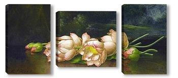 Модульная картина Лотосы: Пейзажная живопись