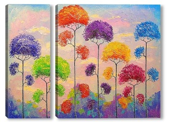 Модульная картина Мелодия деревьев