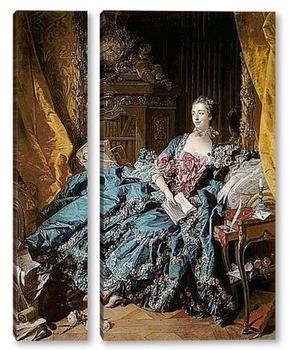 Модульная картина Портрет маркизы де Помпадур