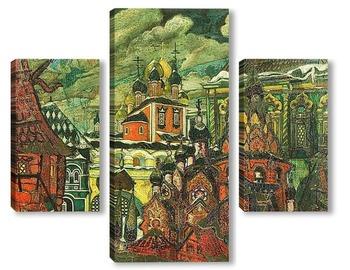 Модульная картина Старая Москва