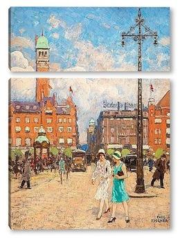Модульная картина Ратушная площадь, Копенгаген