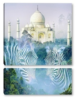 Модульная картина Тадж-Махал в Индии