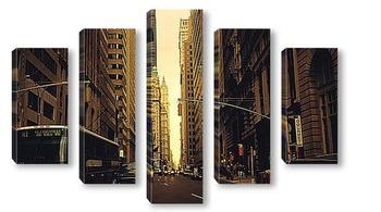 Модульная картина Улица Матхэттена.