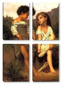 Модульная картина Молодые купальщицы
