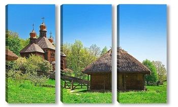 Модульная картина Старинная украинская церковь